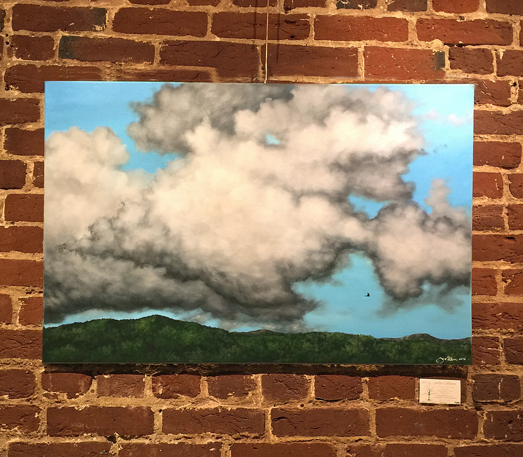 """Lone Flight"" Acrylic Painting. 24"" x 36"" x .75"" To request more photos or to schedule a private viewing, please contact me.Comes complete with hanging gear and ready to display on your wall."