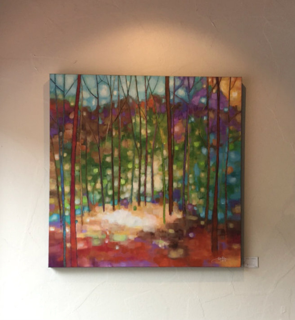 """""""Prism Canopy"""" Acrylic Painting. 36"""" x 36"""" (SOLD)"""