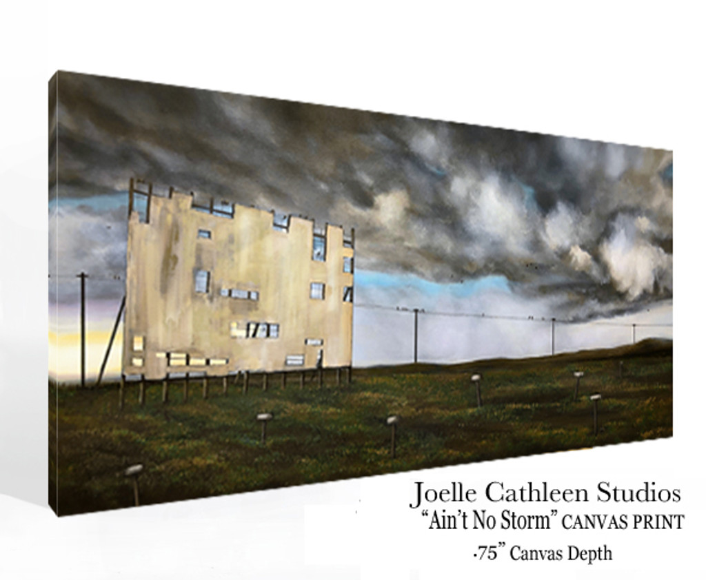 """""""Ain't No Storm"""" Hand Embellished Canvas Print"""
