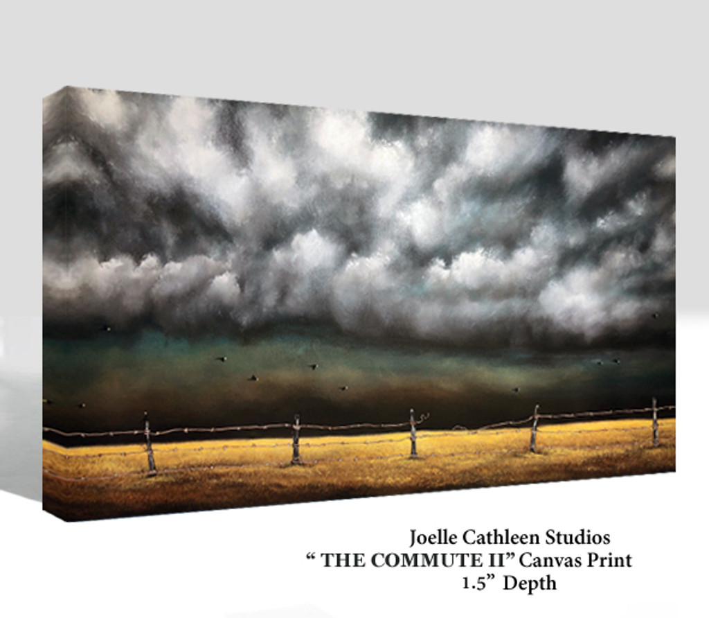 """""""THE COMMUTE II"""" Hand Embellished Canvas Print"""