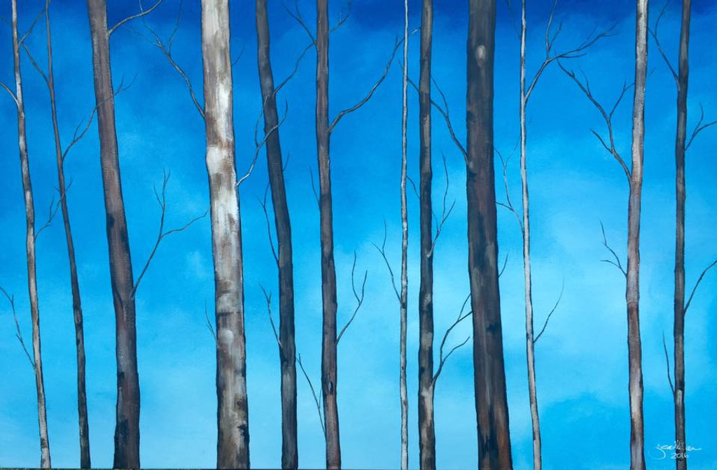 """PREVIOUS CLASS January 18th  """"BIRCH / WINTER TREES"""" at Canal Quarter Arts"""