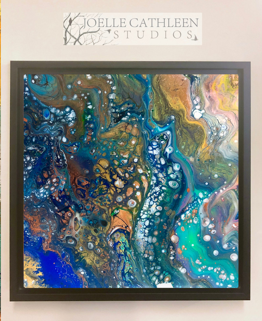 """""""Royals & Gold"""" Fluid Acrylic & Resin Painting"""