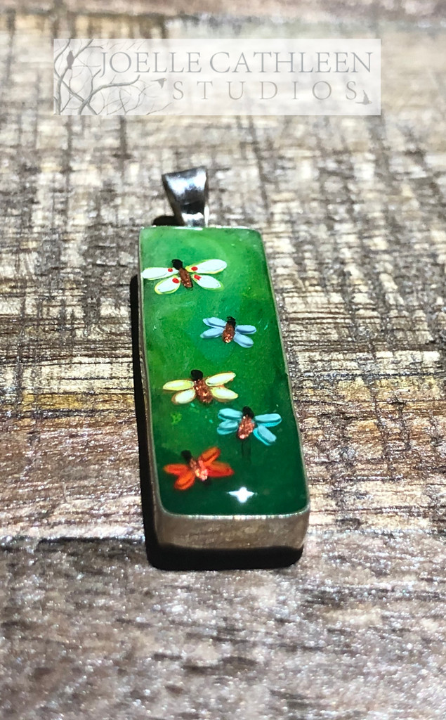 Hand Painted Butterflies Pendant (Made to Order).
