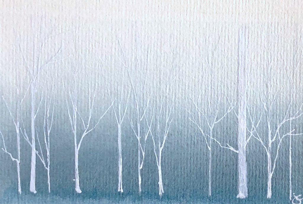 """Silent Woods"" Watercolor Painting"