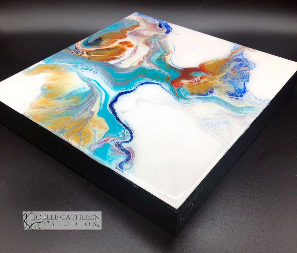 """Pastel Swirl"" Fluid Acrylic On Cradled Board"