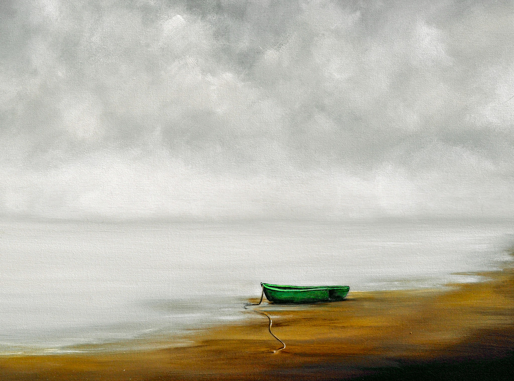 Option 1: Marooned Boat on the Shore. You Pick Boat Color.