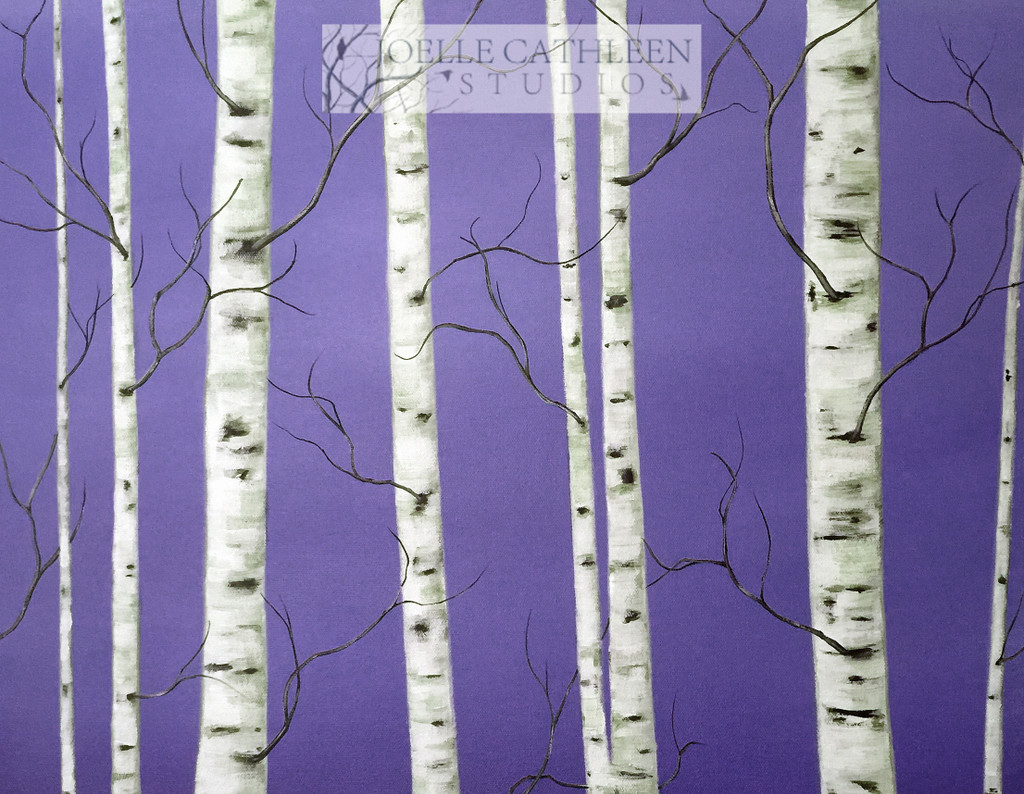 Option 4: Birch Trees on Your Choice of Background Color(s).