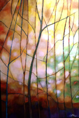 """STAINED IV"" ACRYLIC PAINTING. 24"" x 36""(SOLD)"