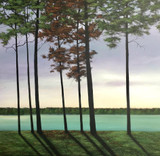 """LAKESIDE VIEW""  ACRYLIC PAINTING (SOLD)"