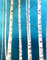 """BIRCHLAND""  ACRYLIC PAINTING 22"" x 28"" (SOLD)"