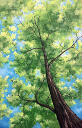"""SUMMER CANOPY""  ACRYLIC PAINTING. 24"" x 36""(SOLD)"