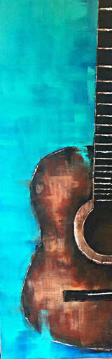 """ACOUSTIC III""  ACRYLIC PAINTING 12"" x 36"" (SOLD)"