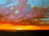 """FIRE IN THE SKY"" Acrylic Painting (SOLD)"