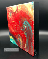 """Lava"" Fluid Acrylic On Cradled Board"