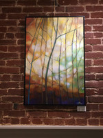"""""""STAINED IV"""" ACRYLIC PAINTING. 24"""" x 36""""(SOLD)"""
