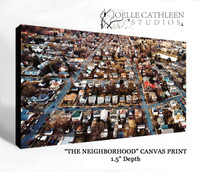 """THE NEIGHBORHOOD""  Photographic Art Print on Canvas"