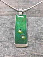 """FIREFLIES"" Fluid Painting  Pendant (Custom Order)"