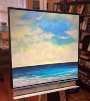 """BYE BYE SUMMER 24""""x 24"""" Framed Acrylic Painting (SOLD)"""