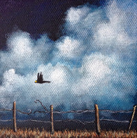 """""""FIELD TRIP"""" Miniature Painting w/ Easel. Made to Order."""