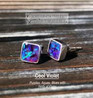 Crushed Opal Stud Earrings (Custom Order)