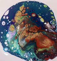 Custom Young Artist Fluid Acrylic Workshop (ages 12 & under with Parent).