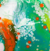 """Citrus Pop"" Fluid Acrylic On Cradled Board"