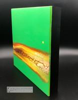 """Kiwi Sun"" Fluid Acrylic On Cradled Board"