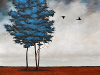 Option 2: Solitaire Trees with Cloudy Sky.