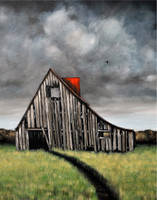 Option 5: Old Barn with Stormy Sky. You pick Barn and Ground Colors.