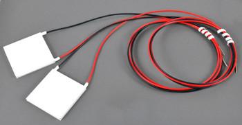 "3016-0002 Peltier Element 15V 8.5Amp 40mm^2 Lapped w/30"" Leads (Pair)"
