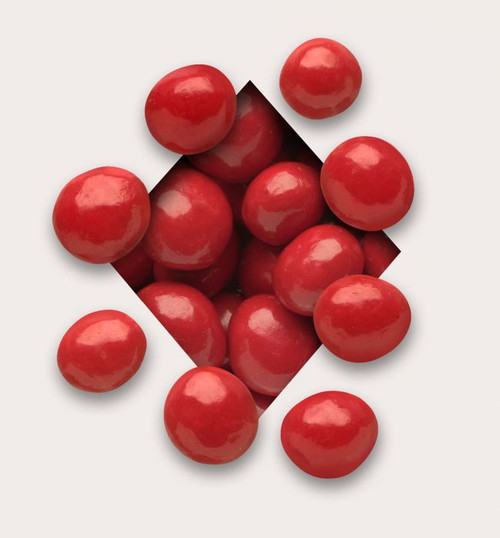 Bing Cherries: Cherry red couveture surrounds premium whole dried Bing cherries wrapped in milk chocolate for a cheery midday indulgence.  There are approximately 38 pieces per 1/2 pound & 77 pieces per pound.
