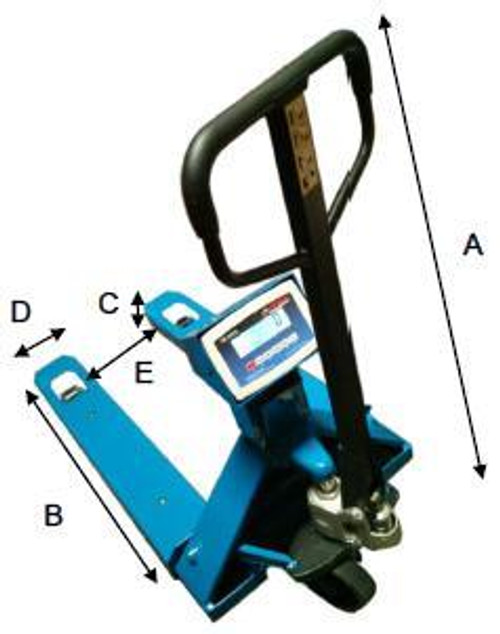 Narrow Pallet Jack with Integrated Scale 5000lbs