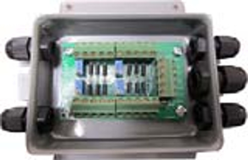 """Junction Box (With Summing Card) - Stainless Steel - 10 Channel - 14""""(L) x 8""""(W) x 3""""(H)"""