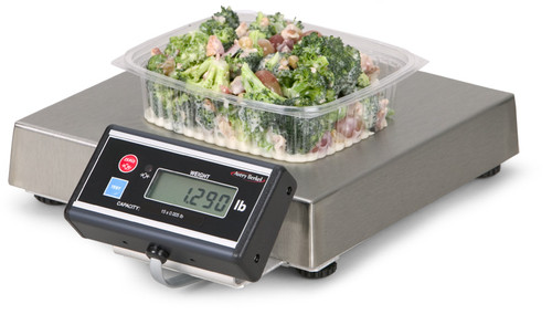 6112 Portion Control and Medical Scale with Push Button Zero with 2 m / 7′ Remote Display with Swivel Bracket 1