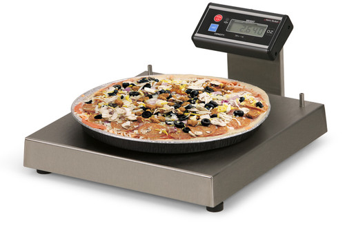 6115 Portion Control/Medical Scale with Touchless Zero with Pan Stop and Rear Flat Display Bracket 3