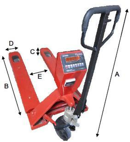 Pallet Jack with Integrated Scale and Printer 5000lbs