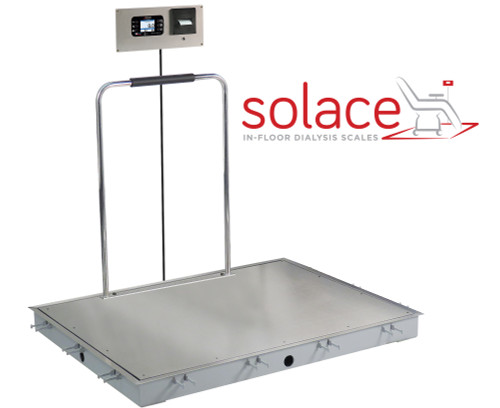 ID-4848SH-855RMP Solace In-floor Dialysis Scale with Handrails