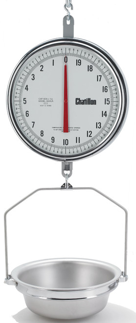 8260DD-T-AS 13-inch Dual Dial Hanging Scale with Hanging Pan