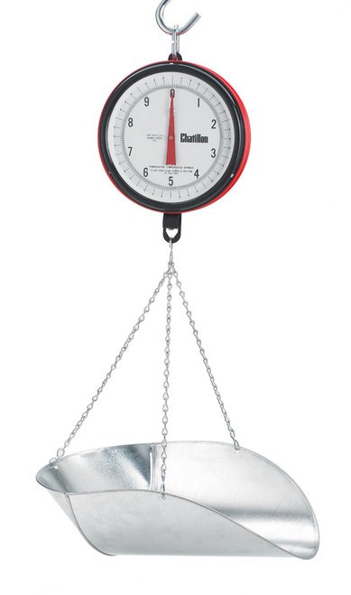 Chatillon 0720DD-T-CG Century Hanging Scale with Dual faces and CG Scoop