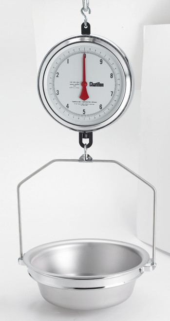 K4230DD-X-AS 4200 Series, 9-inch Hanging Dual Dial Scale with Hanging Scoop