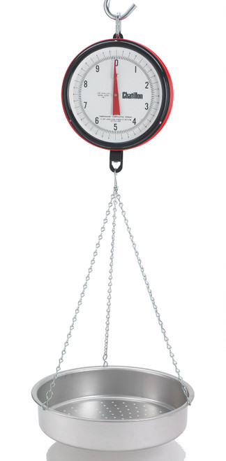 Chatillon K0720DD-X-CAS Century Hanging Scale with Dual Dials and CAS Pan