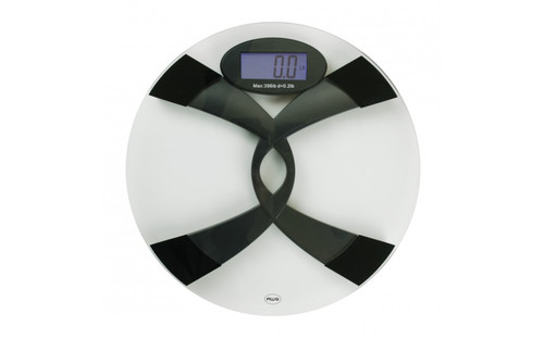 BILINGUAL SPEAKING BODY WEIGHT SCALE - GLASS - 396LBS (396TBS)