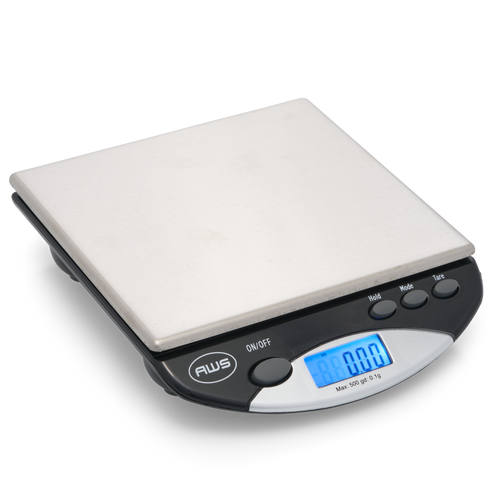 AWS-500I COMPACT BENCH SCALE, BLACK, 500G X 0.1G (AMW-500I-BLK)