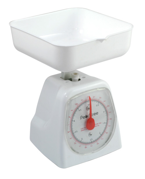 FOOD SCALE, MECHANICAL KITCHEN SCALE, POUND AND KILOGRAM SCALE 5KG X 40G, (DS-5KG)