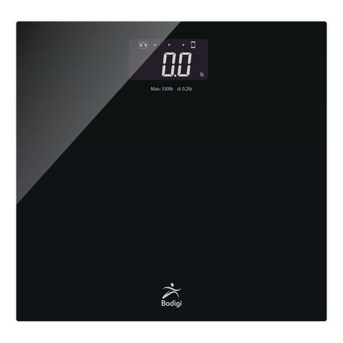 WIRELESS BATHROOM SCALE WITH LCD DISPLAY, 330LBS X 0.2LB (ESSENTIAL)