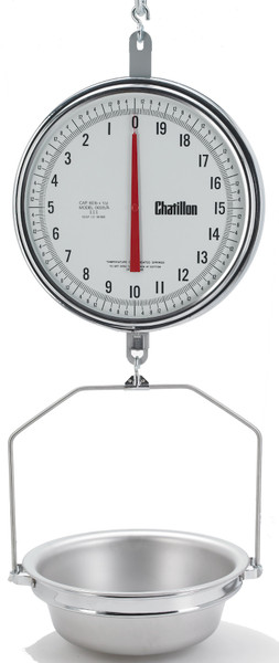 8230DD-T-AS 13-inch Dual Dial Hanging Scale with Hanging Pan