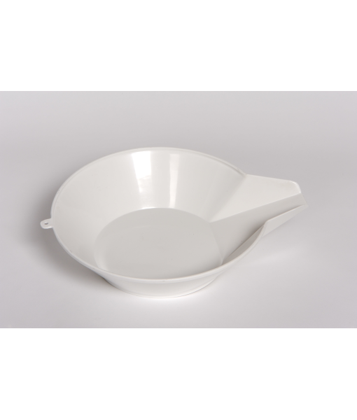 """10 RD Plastic Scoop - 10"""" Round x 2.75"""", Footed"""