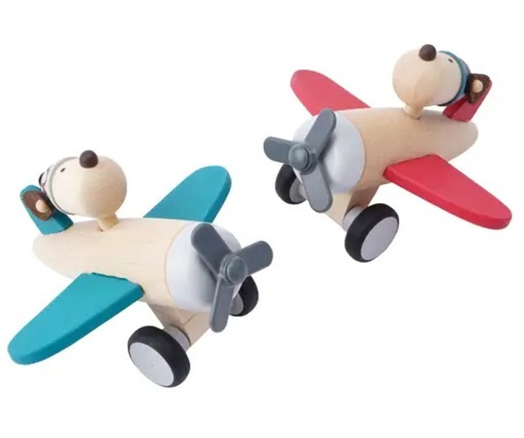 Little Tribe Wooden Aeroplane- Blue
