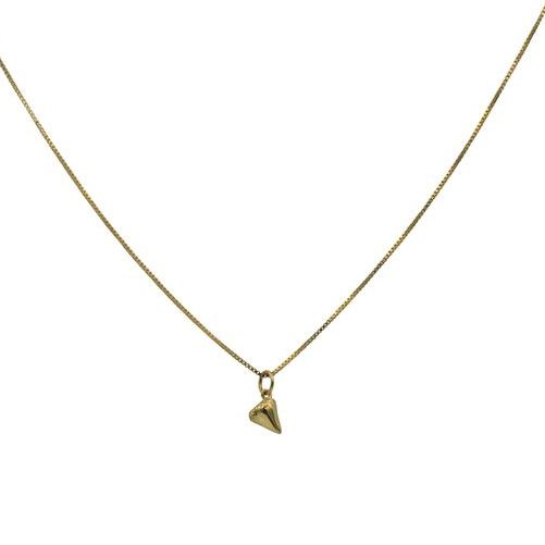 Shark Tooth Charm Necklace in Gold
