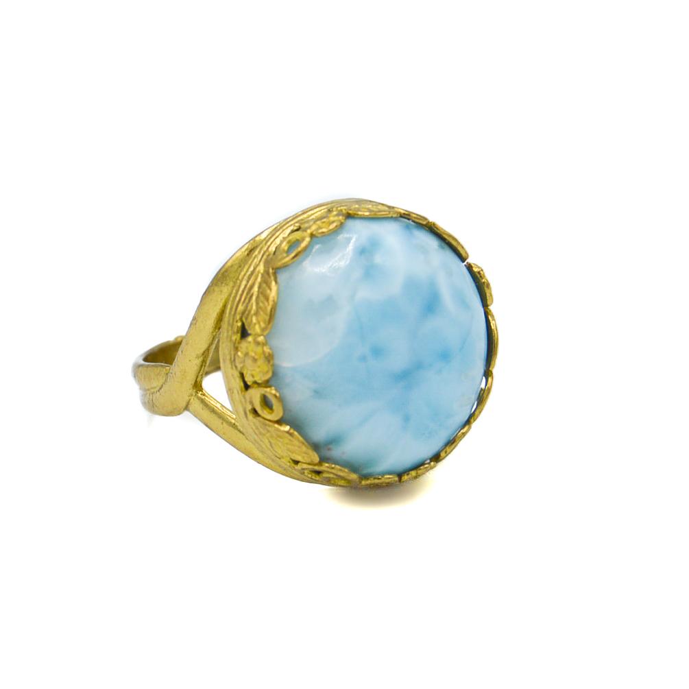 Larimar Ring in Gold